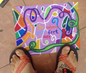 The toes and artwork of one of my inspiring friends and fellow PCV, Amanda.