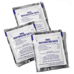 Oral rehydration salts, also known as the best friend of every volunteer who has ever had diarrhea. They are also being used as supportive care for Ebola patients.
