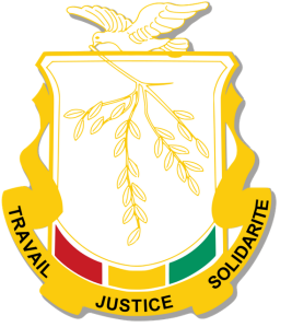 Guinea's coat of arms.