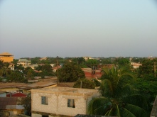 Shots of Taouya, Conakry from the roof of the PC office.