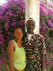 My 2nd family -- my counterpart, Mangue TP, and his wife, Madame Sylla.