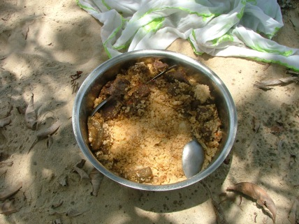 Riz gras, a Senegalese dish -- my favorite!!!
